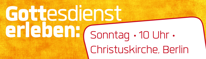 """""""Gottesdienst erleben"""" Banner"""